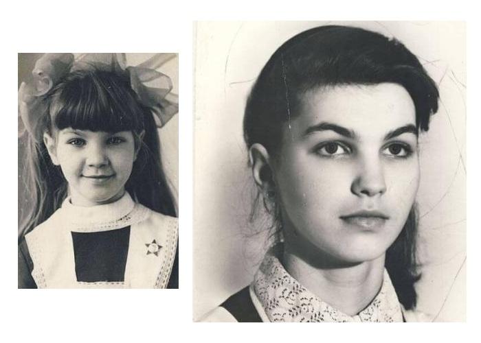 Светлана Боровская в школьные годы.