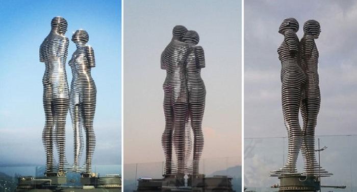 «Поцелуй Али и Нино». Скульптор: Тамара Квеситадзе.