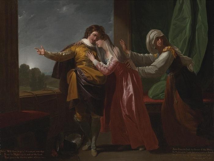 «Ромео и Джульетта». (1778год). Автор: Бенджамин Вест.