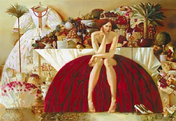 La Table de I'Apres-Midi. Художник Роман Заслонов. | Фото: culbyt.com.