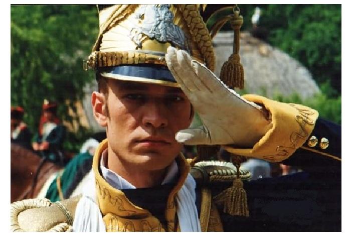 Актер Михал Жебровский в кинофильме «Пан Тадеуш».
