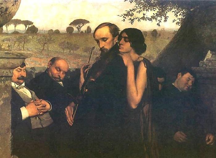 Филистимляне (Музыкант). 1904 г. Художник: Эдвард Окунь