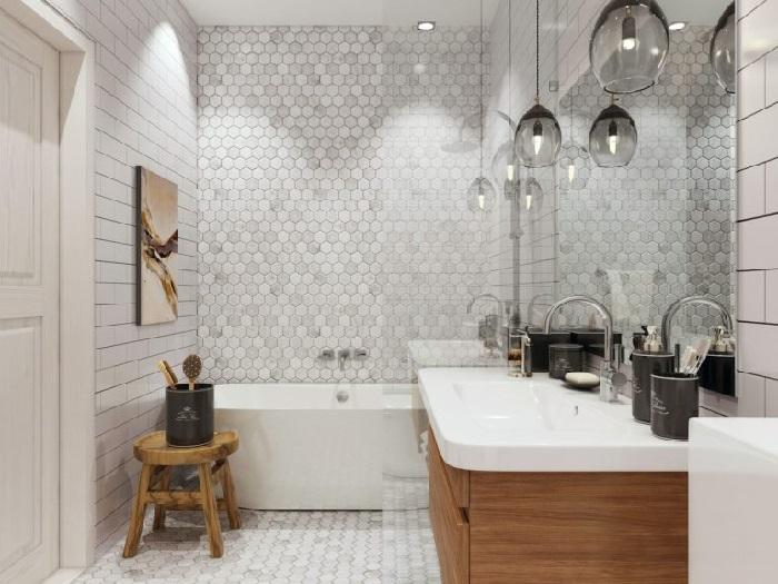 Ванная комната в особняке Александра Цекало. | Фото: muzhyazheny.ru.
