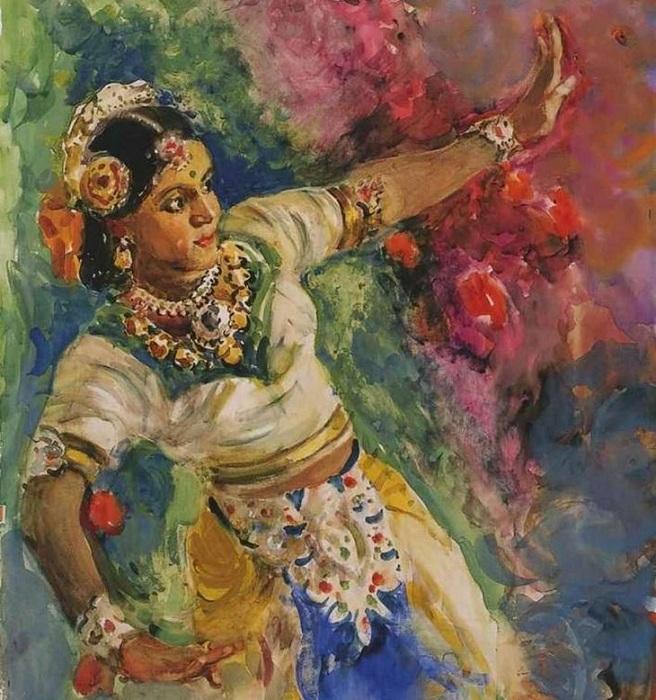 «Бомбейская танцовщица». Автор: А. Герасимов.