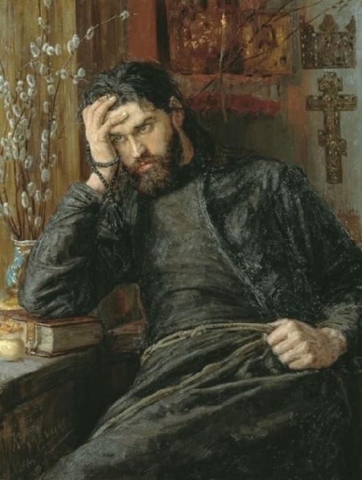 Инок. Автор: К.А.Савицкий.