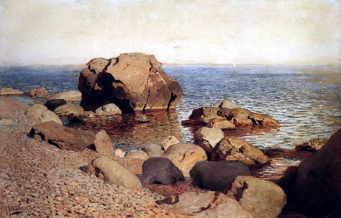 К берега моря. (1886 год). Автор: Исаак Левитан.