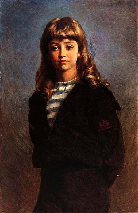 Портрет сына Сережи в матроске. (1887). Автор: К.Е. Маковский.