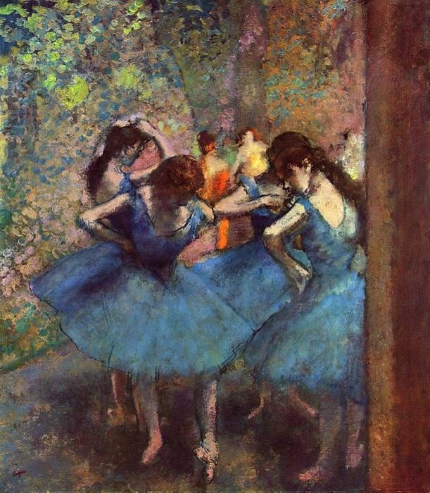 Пастельная живопись Эдгара Дега из цикла «Танцовщицы».
