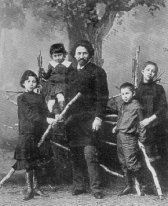 Репин Илья Ефимович (со своими детьми, фото 1880-х гг.)