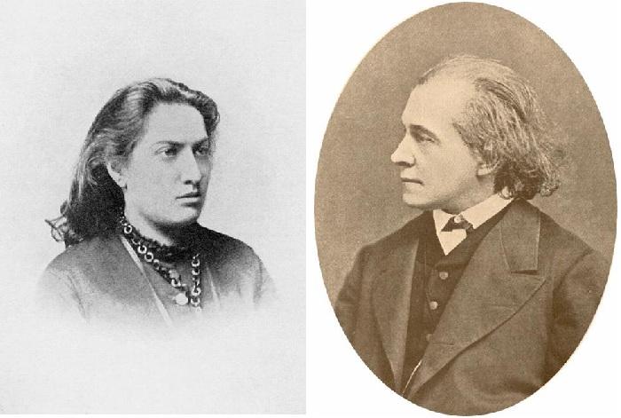 Мать Валентина Семеновна и  отец художника - композитор Н.А.Серов.