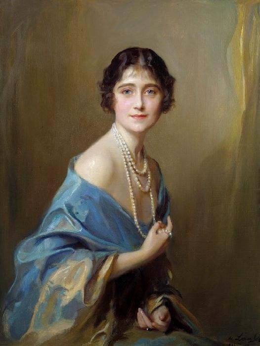 Элизабет Анжела Маргарита  Боуз-Лайон (королева Елизавета, королева-мать). Автор: Филипп Алексис де Ласло.