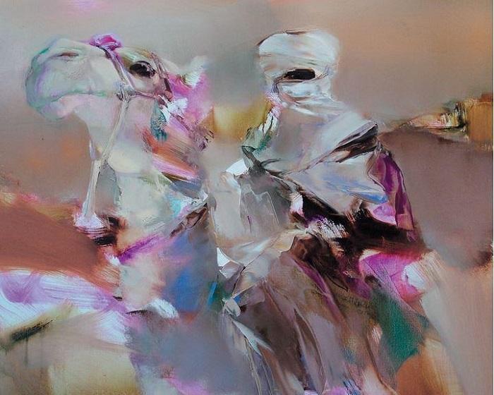Бедуин на верблюде. Из цикла «Шелковый путь». Автор: Валерий Блохин.