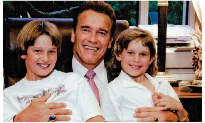 Арнольд Шварценеггер с сыновьями Патриком и Кристофером.