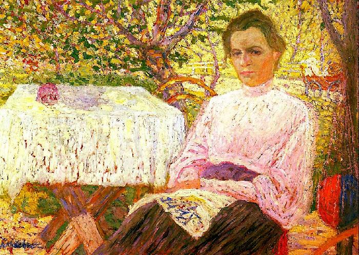 « Читающая женщина.(Портрет члена семьи художника).» (1906). Автор: Казимир Малевич.
