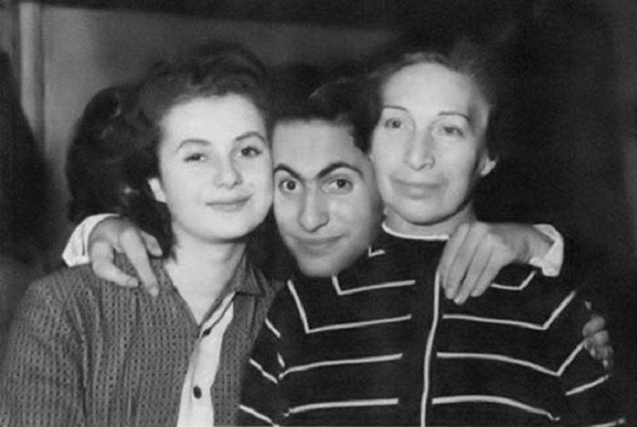 Салли Ландау и Михаил Таль  с Идой