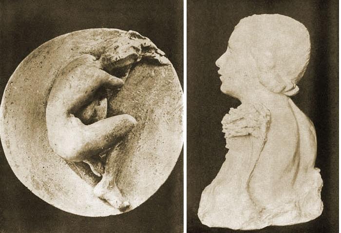 Барельефы скульптора Лины По.