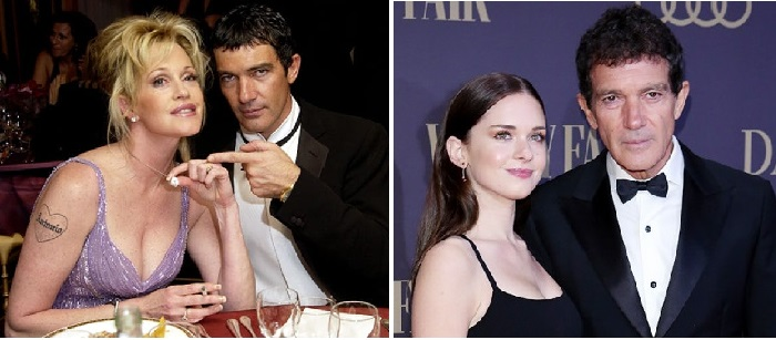 Антонио Бандерас и Мелани Гриффит. / Антонио Бандерас с дочерью Стеллой.