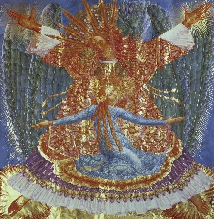 «Три мистерии святого Розенкранца».  Автор: Эрнст Фукс.