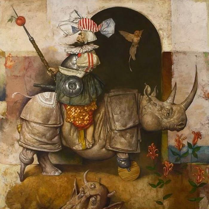 """""""Нет в природе носорогов на колесах. Мне не нравится писать реалистичных животных и людей. Да, это немного грустно, потому что я их расчленяю, но взамен всегда даю что–то... """""""