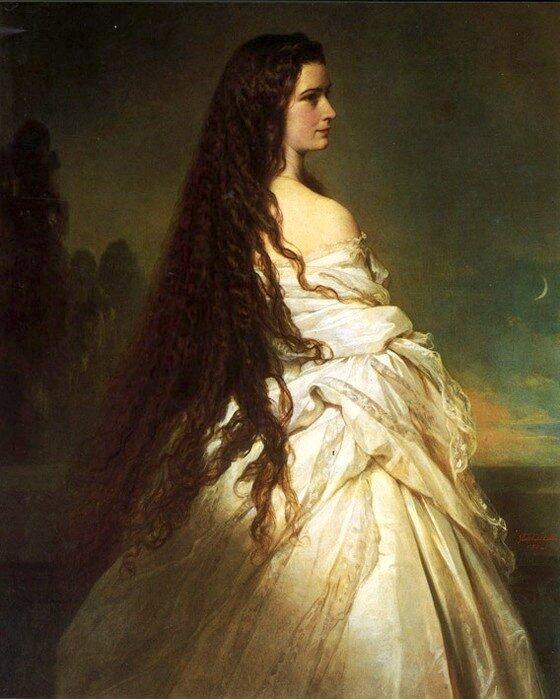 Императрица Сиси Елизавета 1837 - 1898) — супруга императора Франца Иосифа I, по рождению принцесса Баварии. Автор: Франц Ксавер Винтерхальтер.