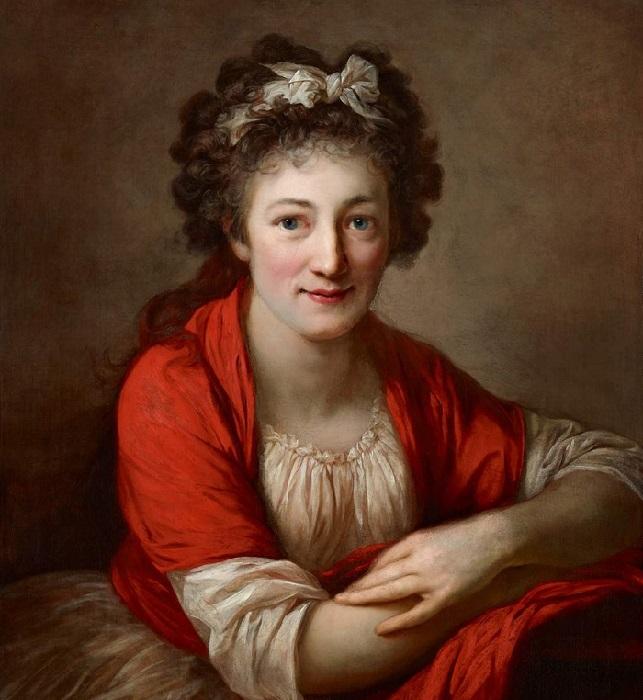 Софи Габен, (около 1795-96 гг.), Холст, масло. 70,3 см x 56 см. Художник: Anton Graff.