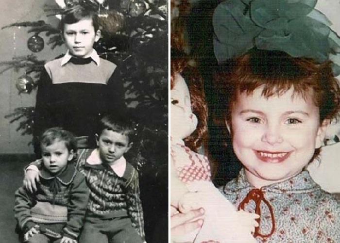 Каролина с братьями Сергеем и Игорем.