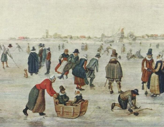 Ледовый пейзаж.(Фрагмент 2).