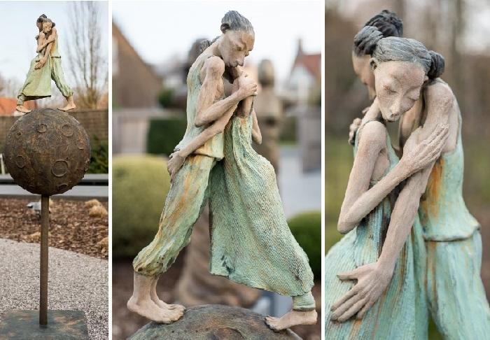 Влюбленные. Скульптор: Dirk De Keyzer.