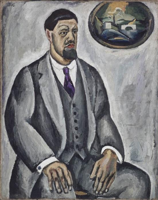 Автопортрет в сером. 1911 год. Автор: Петр Петрович Кончаловский.