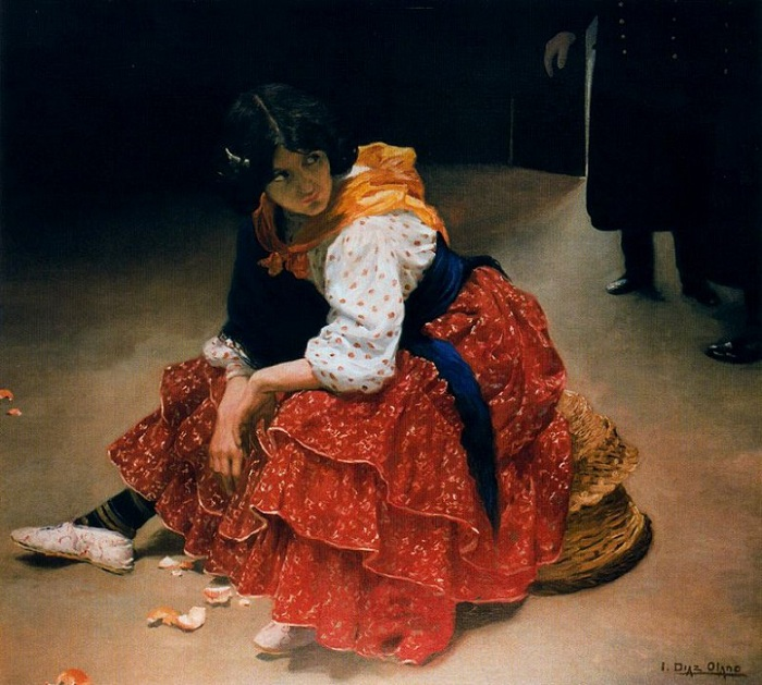 «Цыганка под подозрением». (1909-10 г.г.) Автор: Сальвадор Диас Игнасио Руис де Олано.