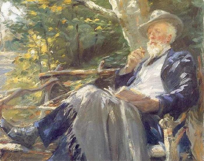 Портрет художника Хольгера Драхмана. (1902 год). Автор: Педер Северин Крёйер.