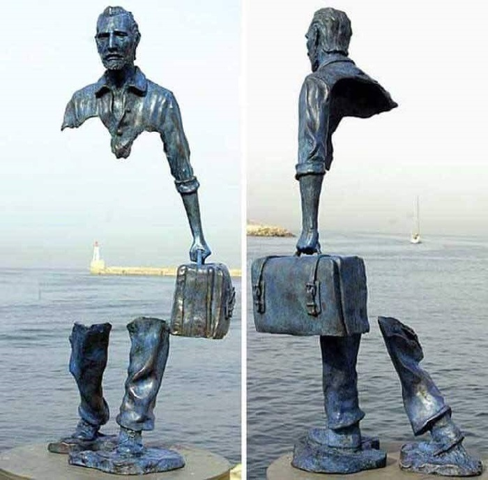 «Рваная» скульптура Ван Гога. Сен-Поль-де-Ванс. Франция. Скульптор: Бруно Каталано.