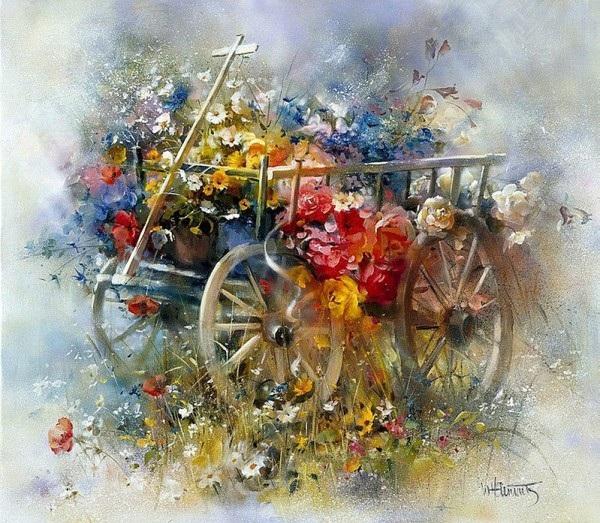 « И вот уже чудится нежный запах цветов...» Автор: Willem Haenraets.