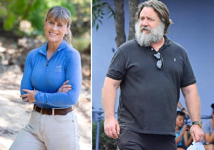 Терри Ирвин - вдова известного натуралиста, тележурналиста и телеведущего, «Охотника на крокодилов» Стива Ирвина./ Рассел Кроу.