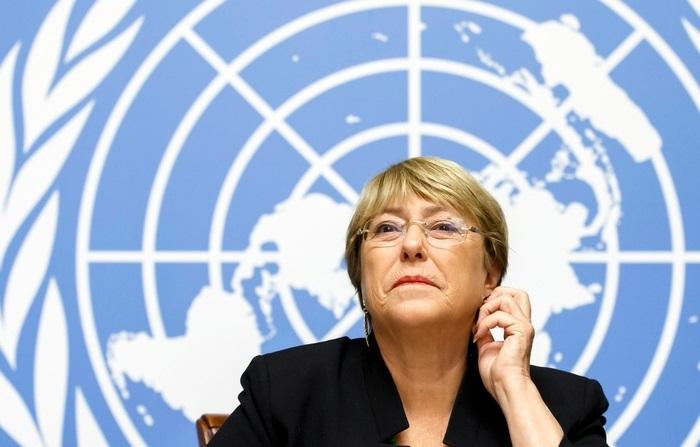 Бачелет на заседании комитета ООН по делам женщин.