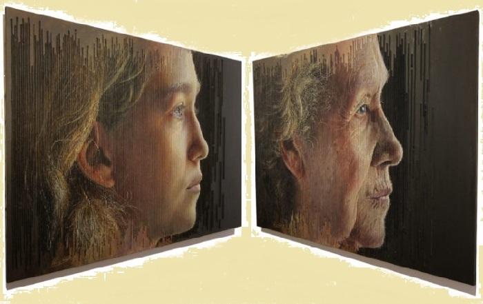 Молодость и Старость. Трехмерные портреты художника Серджи Каденаса. ¦ Фото: realsworld.com.