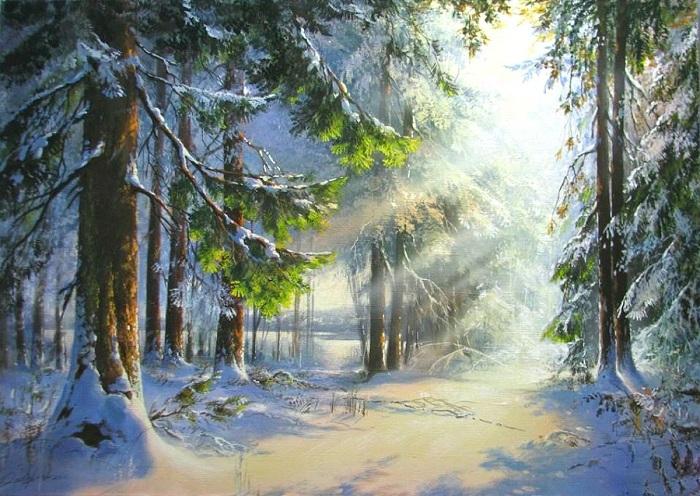 «Зимнее утро». Автор: Виктор Юшкевич.