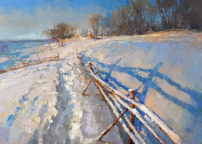 Зимнее утро. Автор: Алексей Зайцев.