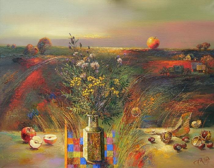 Натюрморт от художника Анатолия Концуба.