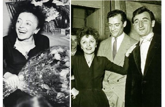 Эдит Пиаф с Шарль Азнавур.