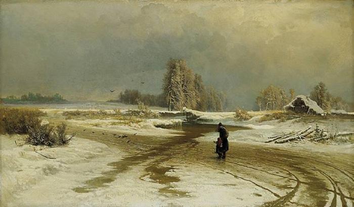 «Оттепель». (1871 год). Автор: Федор Васильев.