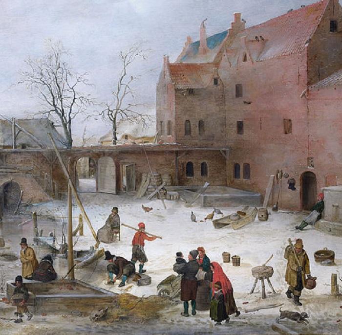 «На льду у городских стен». (Фрагмент 2)