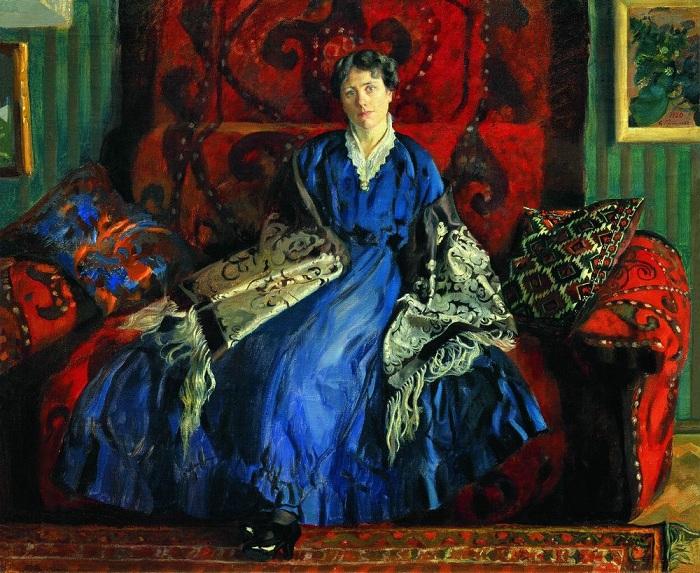 Портрет Юлии, жены художника. Автор: Борис Кустодиев.
