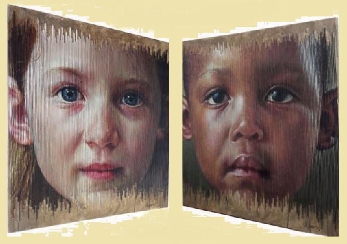 Дети разных рас. Трехмерные портреты художника Серджи Каденаса. | Фото: realsworld.com.