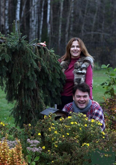 Единение с природой. Евгений Дятлов с женой Юлией.