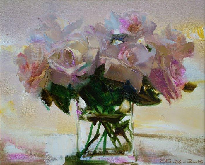 Цветочный натюрморт. Автор: Валерий Блохин.