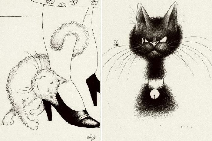 Из серии *Кошки* Автор: Альберт Дюбуа..