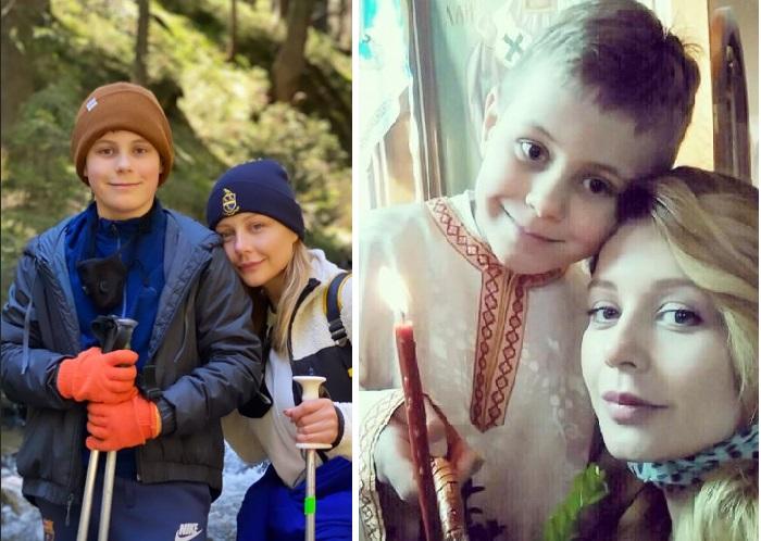 Тина Кароль с сыном Вениамином.