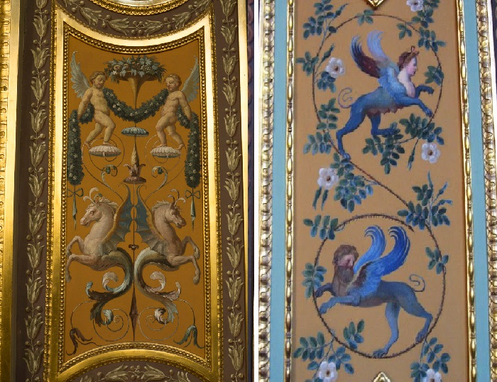 Гротески, созданные Рафаэлем под влиянием античных росписей. Фрагменты росписи лоджий Рафаэля.