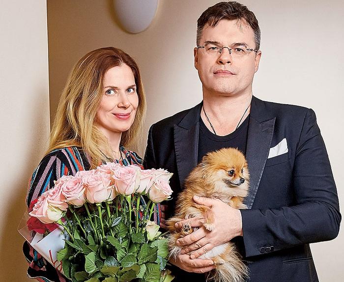 Евгений Дятлов с женой Юлией Джербиновой.